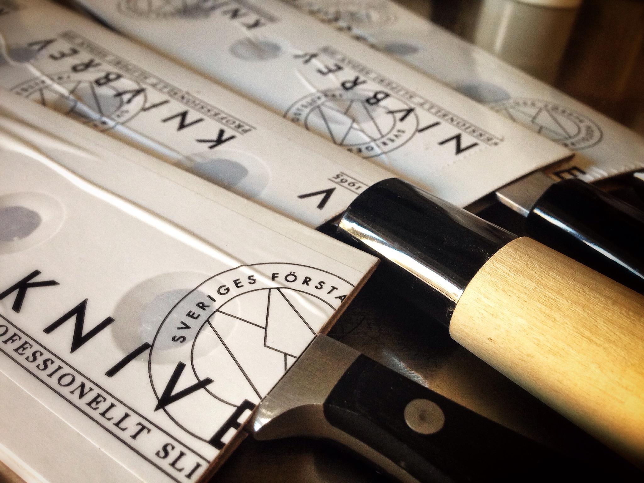 Knivbrev - en av många tjänster för att slipa knivar.