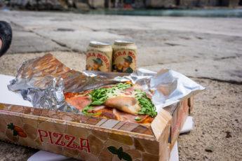 Pizza på piren i Cefalù.